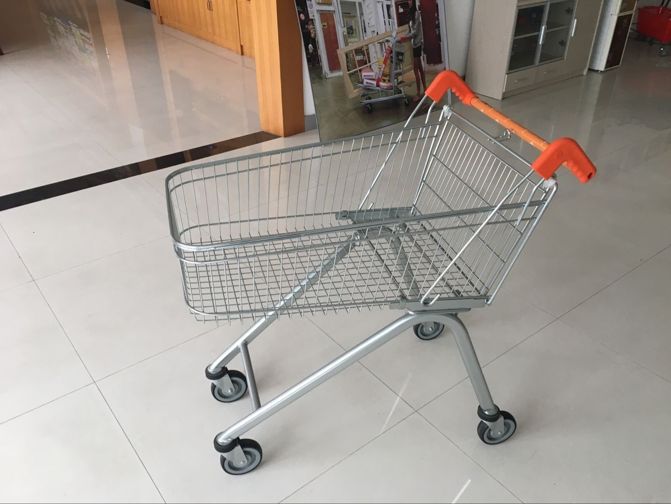 Zinc Plated clear coating Steel UK Shopping Cart 100L / Low Carbon